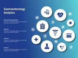 Gastroenterology Analytics Ppt Powerpoint Presentation Visual Aids Ideas