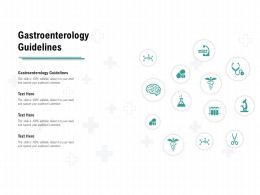 Gastroenterology Guidelines Ppt Powerpoint Presentation Show Diagrams