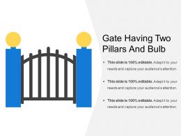 Gate Having Two Pillars And Bulb