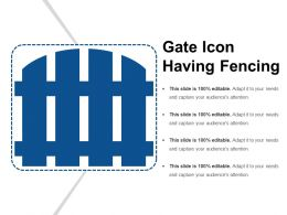 Gate Icon Having Fencing