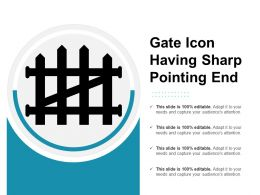 Gate Icon Having Sharp Pointing End