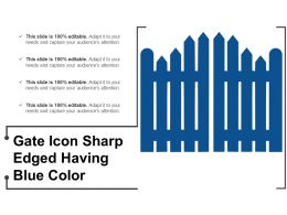 Gate Icon Sharp Edged Having Blue Color