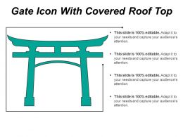 Gate Icon With Covered Roof Top