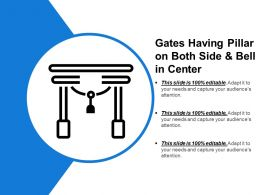 Gates Having Pillar On Both Side And Bell In Center