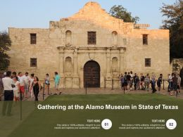 Gathering At The Alamo Museum In State Of Texas