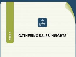 Gathering Sales Insights Funnel Powerpoint Presentation Topics