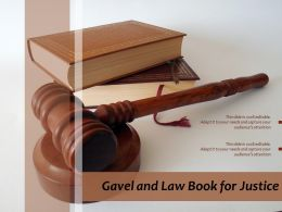 Gavel And Law Book For Justice