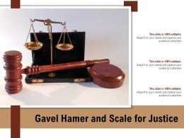 Gavel Hamer And Scale For Justice