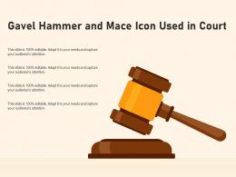 Gavel Hammer And Mace Icon Used In Court
