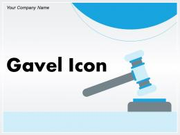 Gavel Icon Business Indicating Review Illustrating Judgement