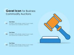 Gavel Icon For Business Commodity Auctions