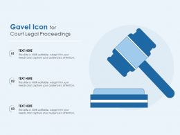 Gavel Icon For Court Legal Proceedings