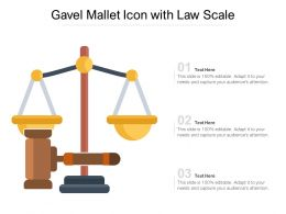 Gavel Mallet Icon With Law Scale