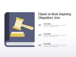 Gavel On Book Depicting Regulatory Icon