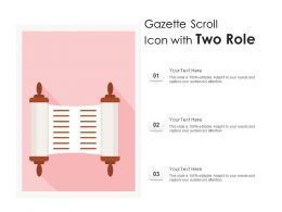 Gazette Scroll Icon With Two Role
