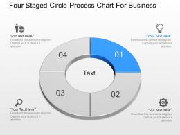 gb Four Staged Circle Process Chart For Business Powerpoint Template