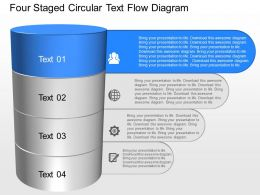 gb Four Staged Circular Text Flow Diagram Powerpoint Template