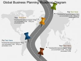 gb Global Business Planning Roadmap Diagram Flat Powerpoint Design