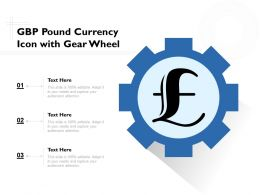 GBP Pound Currency Icon With Gear Wheel