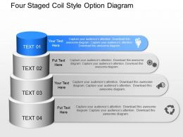 gc Four Staged Coil Style Option Diagram Powerpoint Template