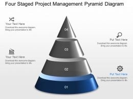 gc Four Staged Project Management Pyramid Diagram Powerpoint Template