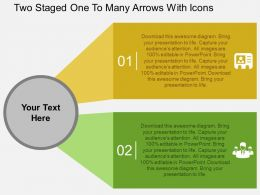 Gc Two Staged One To Many Arrows With Icons Flat Powerpoint Design