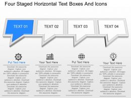 gd Four Staged Horizontal Text Boxes And Icons Powerpoint Template