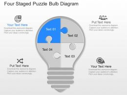 gd Four Staged Puzzle Bulb Diagram Powerpoint Template