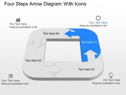 gd Four Steps Arrow Diagram With Icons Powerpoint Template