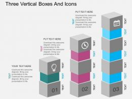 gd Three Vertical Boxes And Icons Flat Powerpoint Design