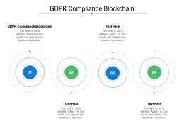 GDPR Compliance Blockchain Ppt Powerpoint Presentation Ideas Brochure Cpb