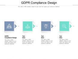 GDPR Compliance Design Ppt Powerpoint Presentation Professional Skills Cpb