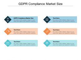GDPR Compliance Market Size Ppt Powerpoint Presentation Icon Ideas Cpb