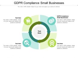 GDPR Compliance Small Businesses Ppt Powerpoint Presentation Gallery Icon Cpb