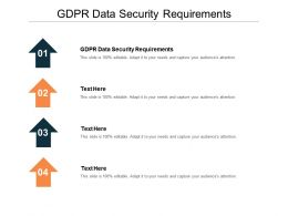 GDPR Data Security Requirements Ppt Powerpoint Presentation Inspiration Guidelines Cpb
