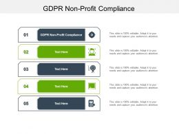 GDPR Non Profit Compliance Ppt Powerpoint Presentation Summary Show Cpb