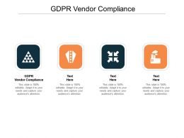 GDPR Vendor Compliance Ppt Powerpoint Presentation Portfolio Clipart Images Cpb