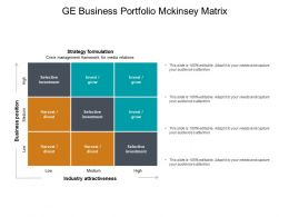 Ge Business Portfolio Mckinsey Matrix