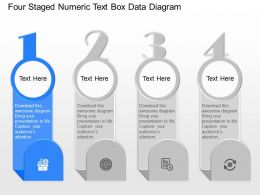 ge Four Staged Numeric Text Box Data Diagram Powerpoint Template