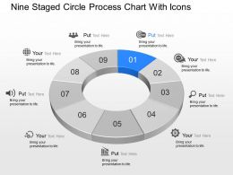 ge Nine Staged Circle Process Chart With Icons Powerpoint Template