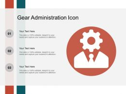 Gear Administration Icon Ppt Templates