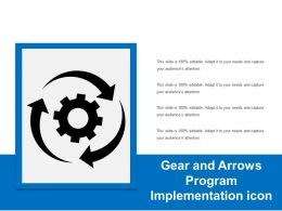 Gear And Arrows Program Implementation Icon