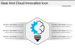 Gear And Cloud Innovation Icon