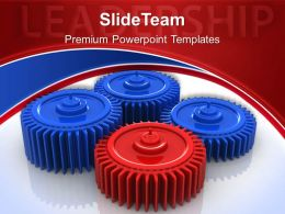 Gear And Cogs Powerpoint Templates Leadership Symbol Marketing Ppt Design Slides