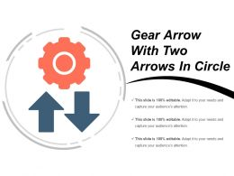 Gear Arrow With Two Arrows In Circle