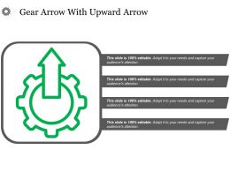 Gear Arrow With Upward Arrow