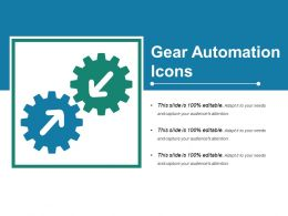 Gear Automation Icons Powerpoint Slide Images