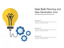 Gear Bulb Planning And Idea Generation Icon