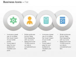 Gear Business People Calculator Checklist Ppt Icons Graphics