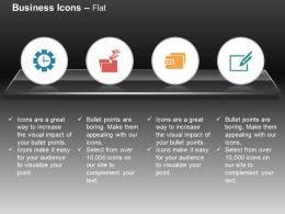 Gear Clock Secured Folder Checklist Data Storage Ppt Icons Graphics